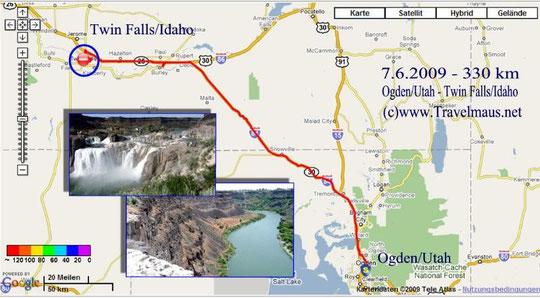 4.6.2009 Ogden - Twin Falls 330 km