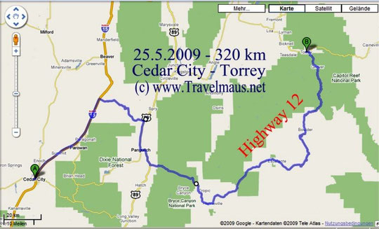 25,5.2009 Cedar City - Torrey 320 km