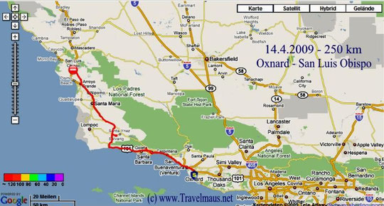 14.4.2009 Oxnard - San Luis Obispo 250 km