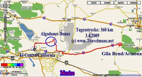 3.4.2009 El Centro - Gila Bend 360 km