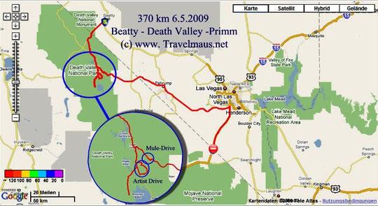 6.5.2009 Beatty - Primm 370 km