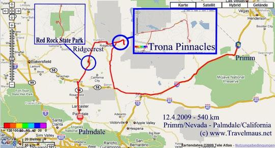 12.4.2009 Primm -Palmdale 540 km