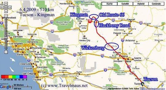 6.4.2009 Tucson - Kingman 510 km