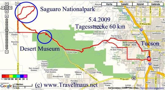 5.4.2009 Tucson - Tucson 60 km
