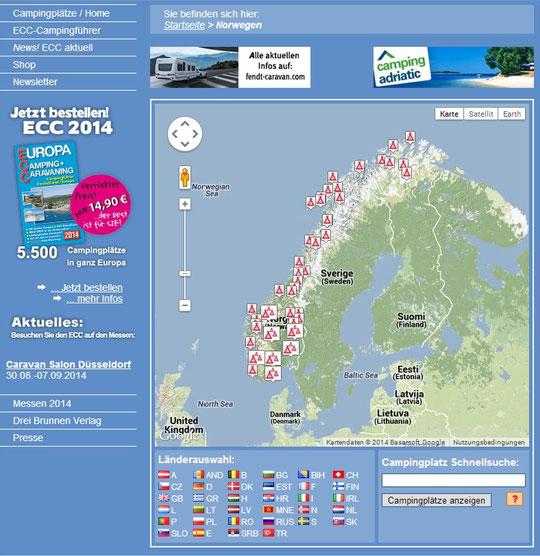 LInk: ECC-Campingplätze Norwegen