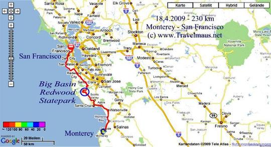 18.4.2009 Monterey - San Franci1 230 kmco