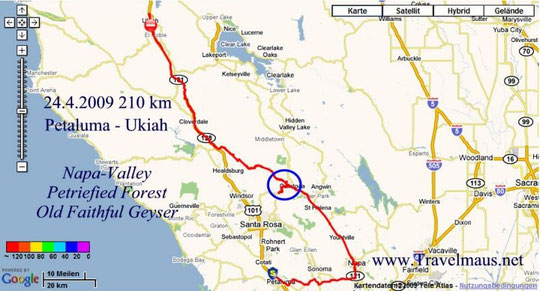 24.4.2009 Petaluma -Ukiah 210 km