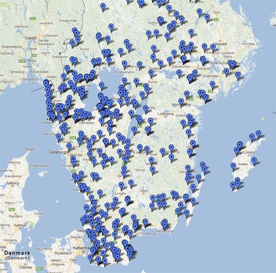 Rastplätze/Stellplätze Schweden