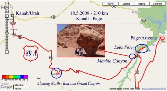 18.5.2009 Kanab - Page 210 km
