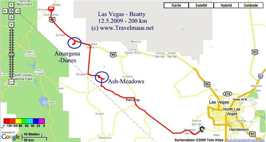 12.5.2009 Las Vegas - Beatty  200 km