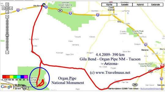4.4.2009 Gila Bend-Tucson 390 km