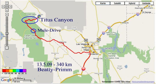 13.5.2009 Beatty - Primm 340 km