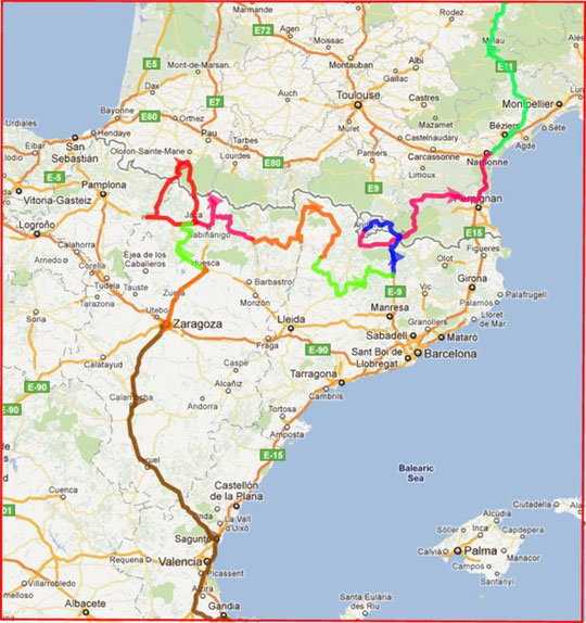 Route Spanien 2011