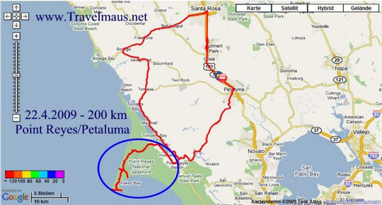 22.4.2009 Petaluma - Petaluma  200 km