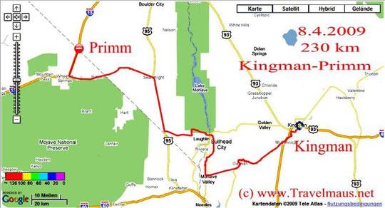 7.4.2009 Kingman - Primm 230 km