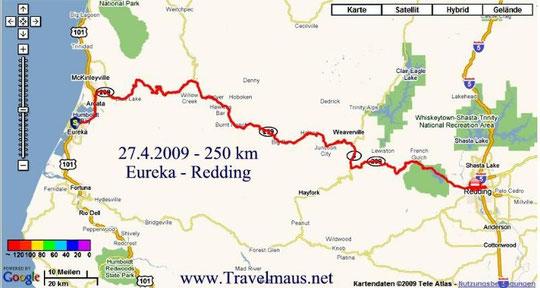 27.4.2009 Eureka - Redding 250 km