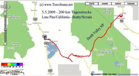 5.5.2009 LOne Pine - Beatty 200 km