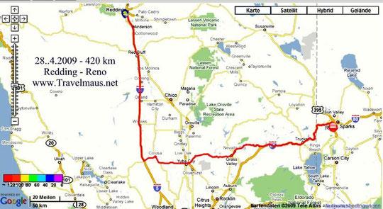 28.4.2009 Redding - Reno 420 km