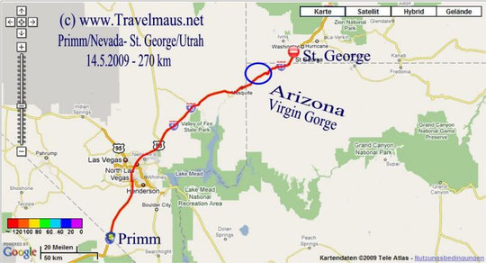 14.5.2009 Primm - Saint George 270 km