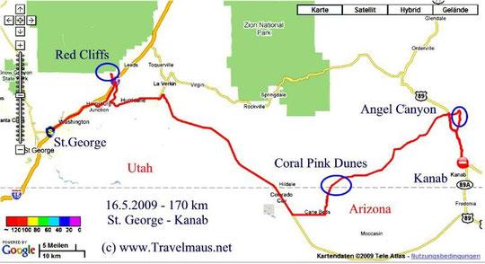 16.5.2009 Sainz George - Kanab 170 km