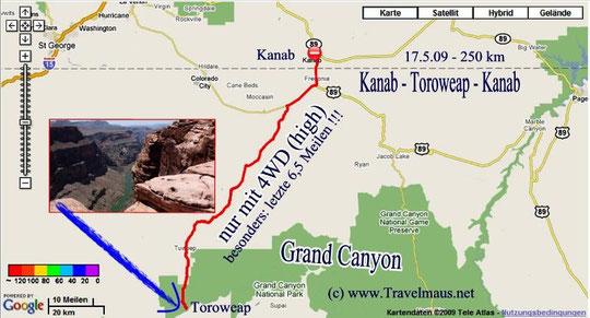 17.5.2009 Kanab - Kanab 250 km