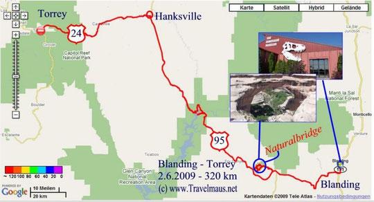 2.6.2009 Blanding - Toreey 320 km