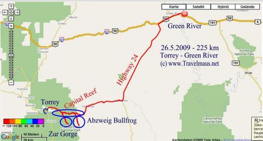 26.5.2009 Torrey - Green River, UT ,225 km