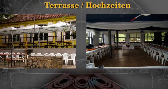 Terrasse / Hochzeit