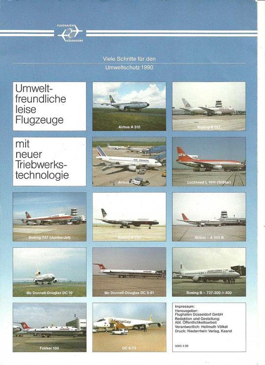 """""""Umweltschutz 1990"""" - mit der MD-80/Courtesy: Flughafen Düsseldorf"""