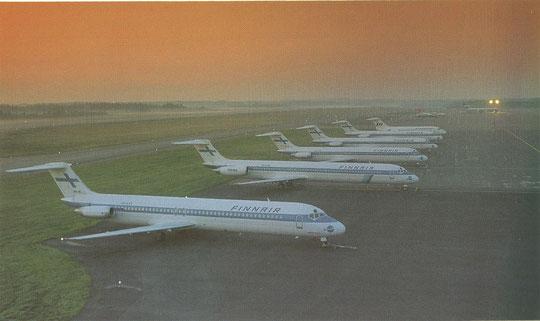 DC-9 und eine MD-80 in der Morgendämmerung/Courtesy: Finnair