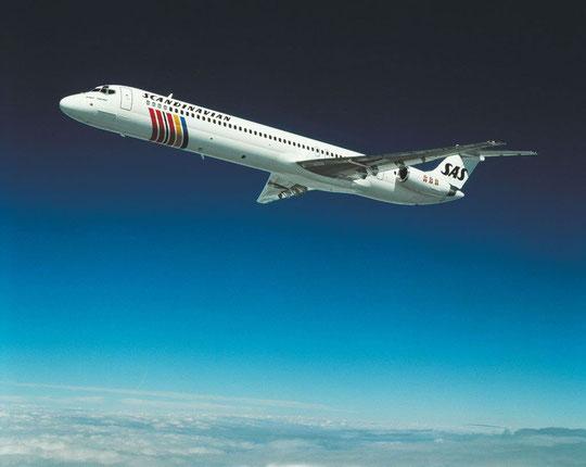 Die erste MD-80 für SAS!/Courtesy: McDonnell Douglas
