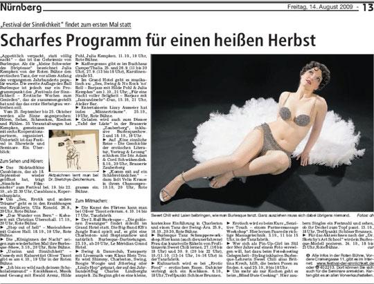 Nürnberger Zeitung, 14.08.09