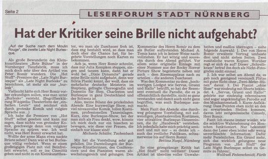 Nürnberger Nachrichten, 07.12.09