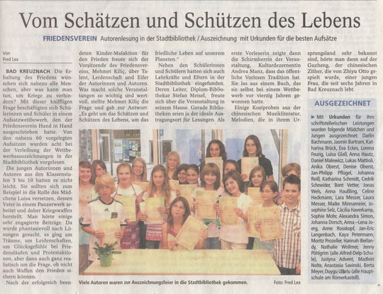 Autorenlesung am 16. Juni 2010 in der Stadtbibliothek - Allgemeine Zeitung