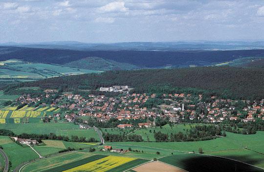 Luftaufnahme von Bad Bocklet - traumhaft oder?