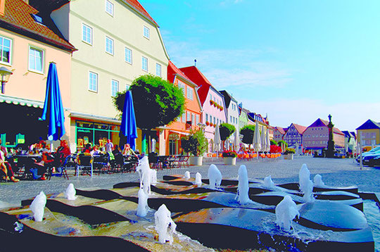 Flaniermeile Bad Neustadt - Quelle: Tourismus und Stadtmarketing Bad Neustadt