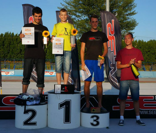 Men's Battle podium / Credit : SlalomTimTeam
