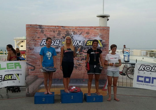 Speed Slalom Women's podium