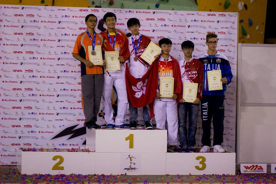 Speed Slalom Junior Men podium