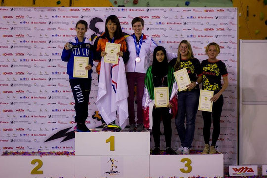 Speed Slalom Senior Women podium