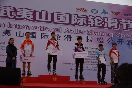 Speed Slalom Men podium by Chiu Yin-Hsuan