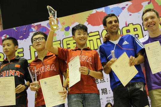 From left : Zhu Tian Le, Ye Hao Qin, Zhang Hao, Romain Lebois, Andrei Shitov - Photo : Guan Lin