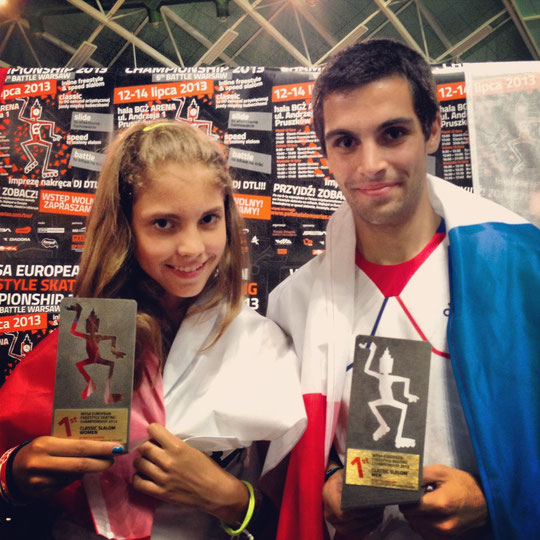 Daria Kuznetsova (Rus) and Romain Lebois (Fra), 2013 Champions of Europe (Classic Freestyle)