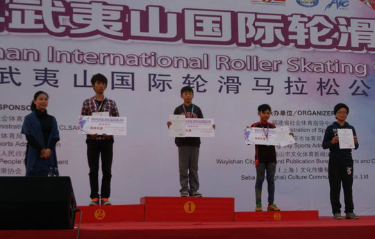 Speed Slalom Junior Men podium by Chiu Yin-Hsuan