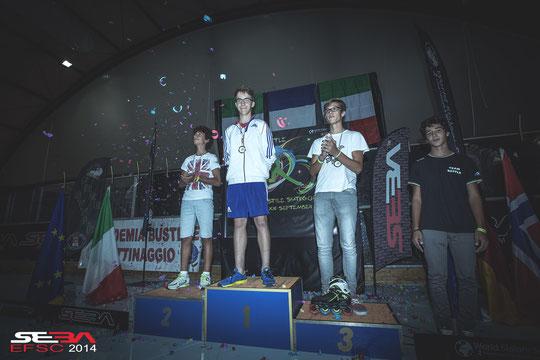 Junior Men Classic podium. Credit : Anthony Finocchiaro