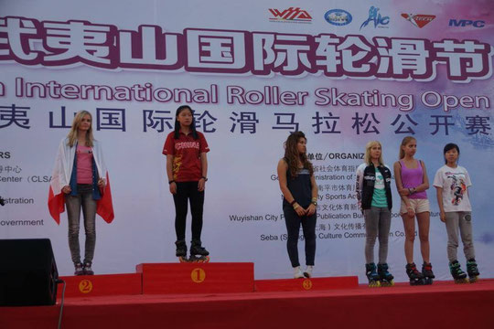 Speed Slalom Women podium by Chiu Yin-Hsuan
