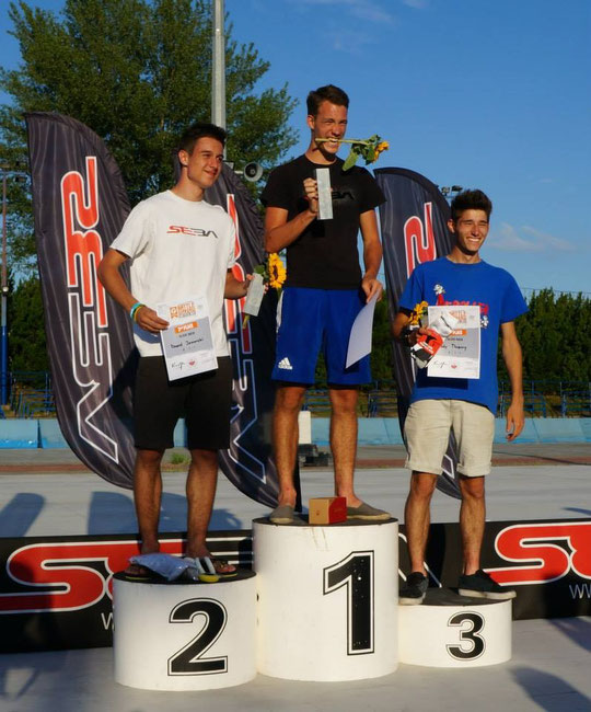 Men's Slides podium / Credit : SlalomTimTeam