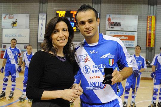 Massimo Tataranni capocannoniere Campionato serie A1 2009-2010 con 63 goal (stecca d'oro).