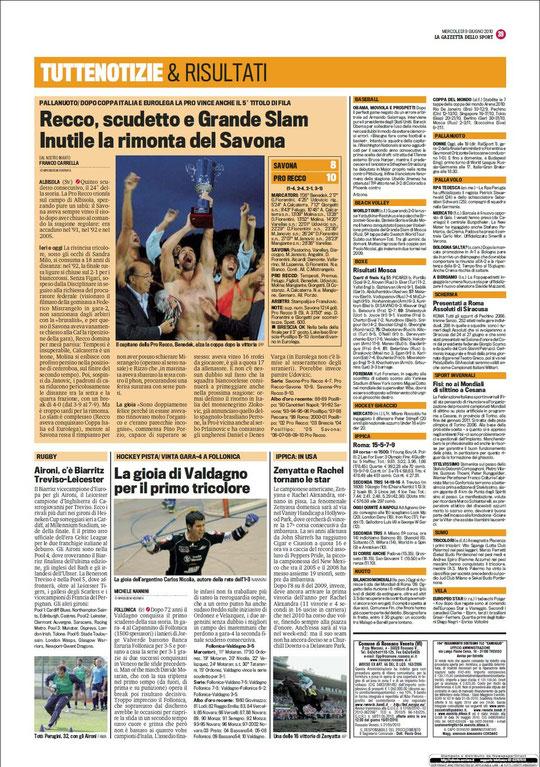 Gazzetta dello Sport - 09 Giugno 2010