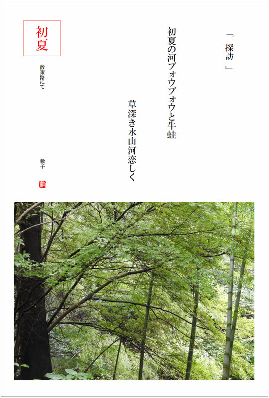 2016/10/21制作 散策路の小川